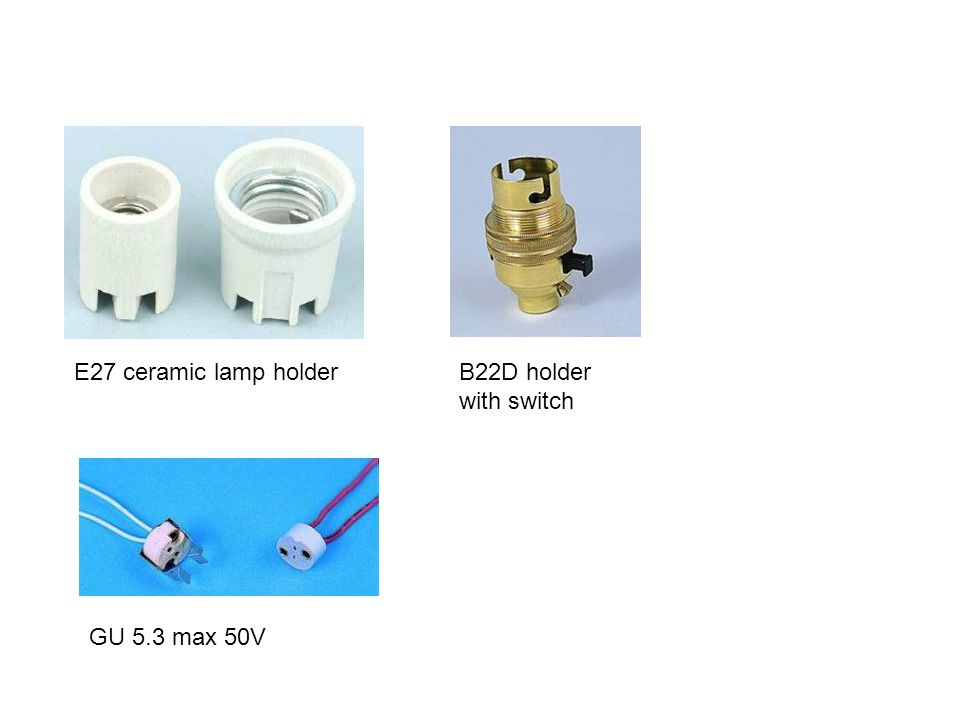 E27 ceramic lamp holder GU 5.3 max 50V B22D holder with switch