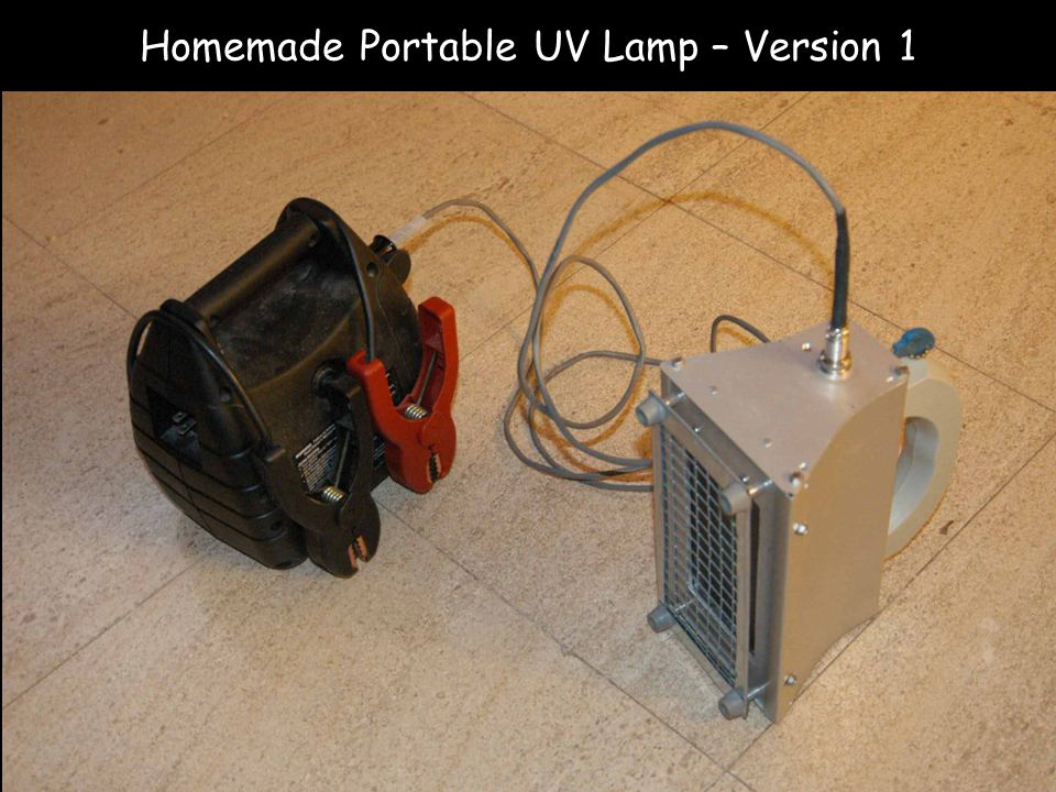 Homemade Portable UV Lamp – Version 1