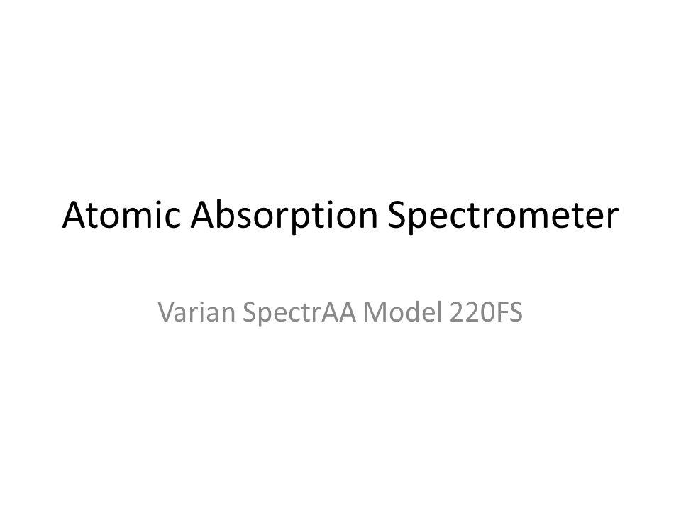 Atomic Absorption Spectrometer Varian SpectrAA Model 220FS