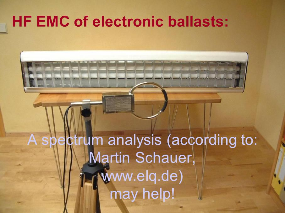 A spectrum analysis (according to: Martin Schauer, www.elq.de) may help!