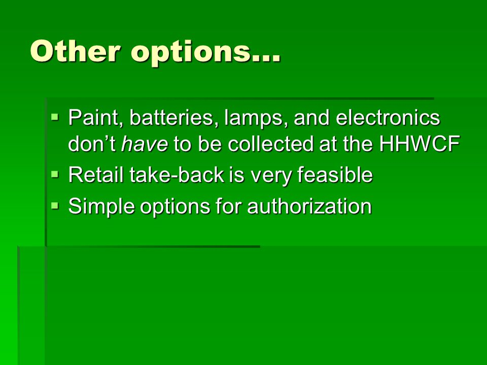 What is recyclable latex paint.Health and Safety Code section 25217:...