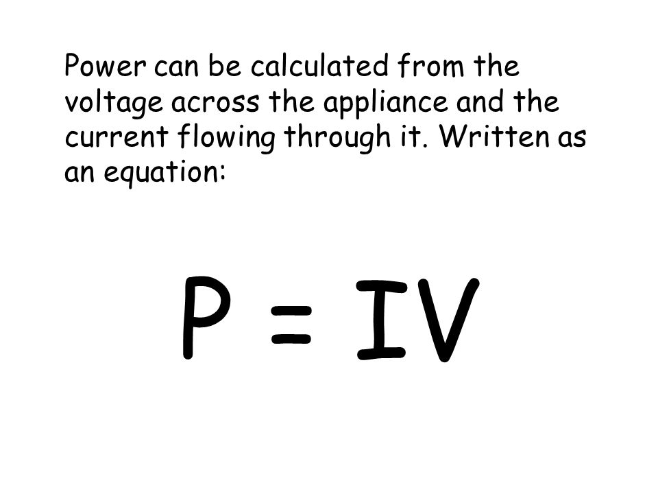 Investigating… power, voltage, current and resistance. What do you notice about Worksheet / experiment