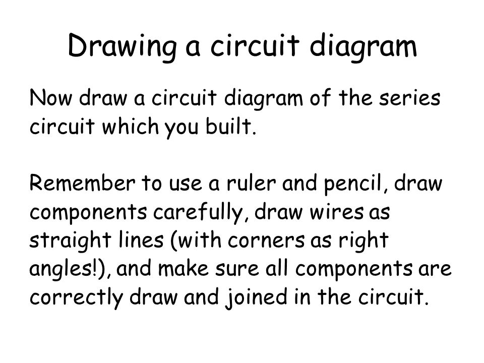 Build a series circuit Build a series circuit which contains a 6V battery, two 6V lamps, and a meter used for measuring potential difference across ea