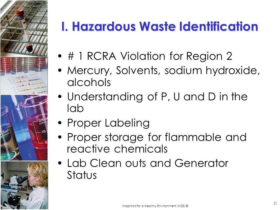 Hospitals for a Healthy Environment (H2E) © 21 I.