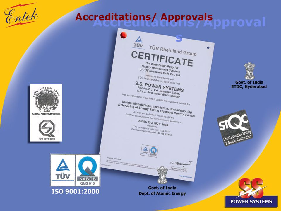 Accreditations/Approval s