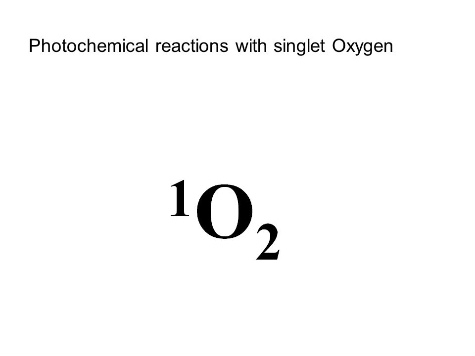 Photochemical reactions with singlet Oxygen