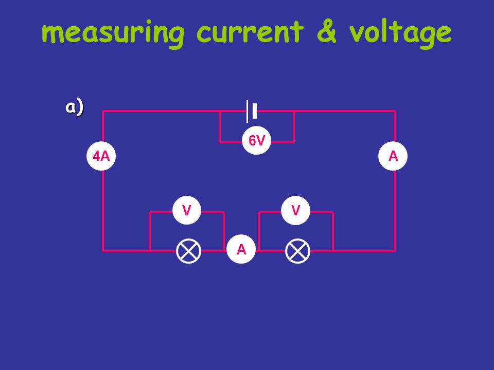 measuring current & voltage copy the following circuits on the next two slides. complete the missing current and voltage readings. remember the rules