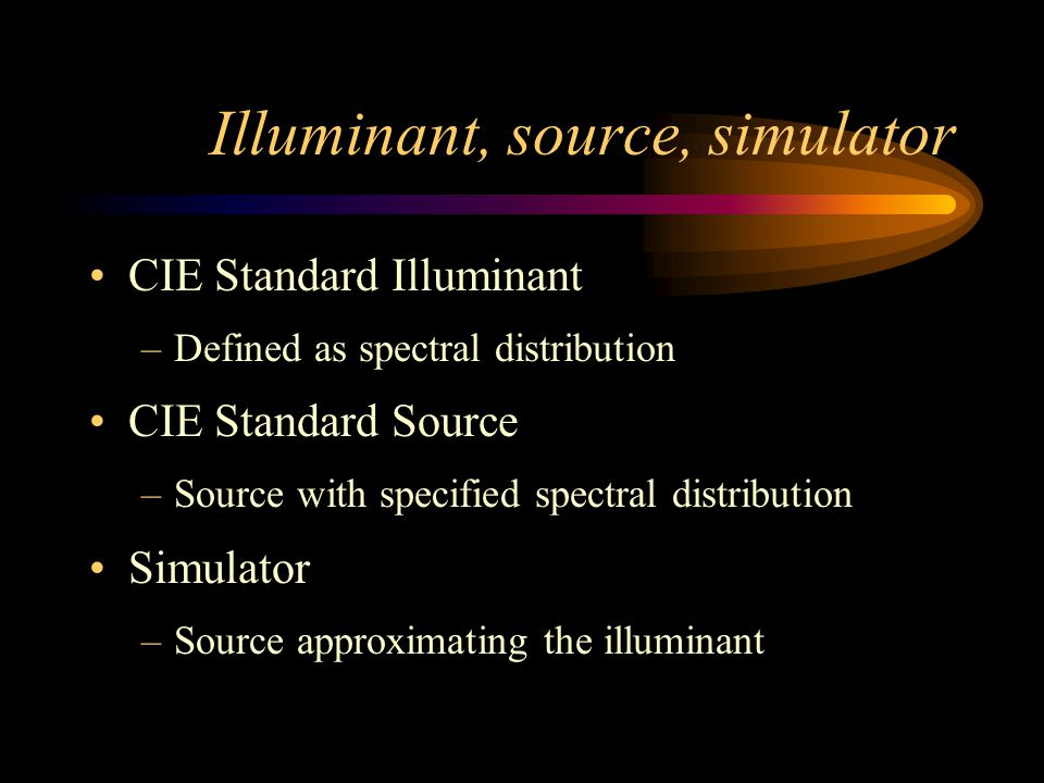 CIE Standard Illuminants
