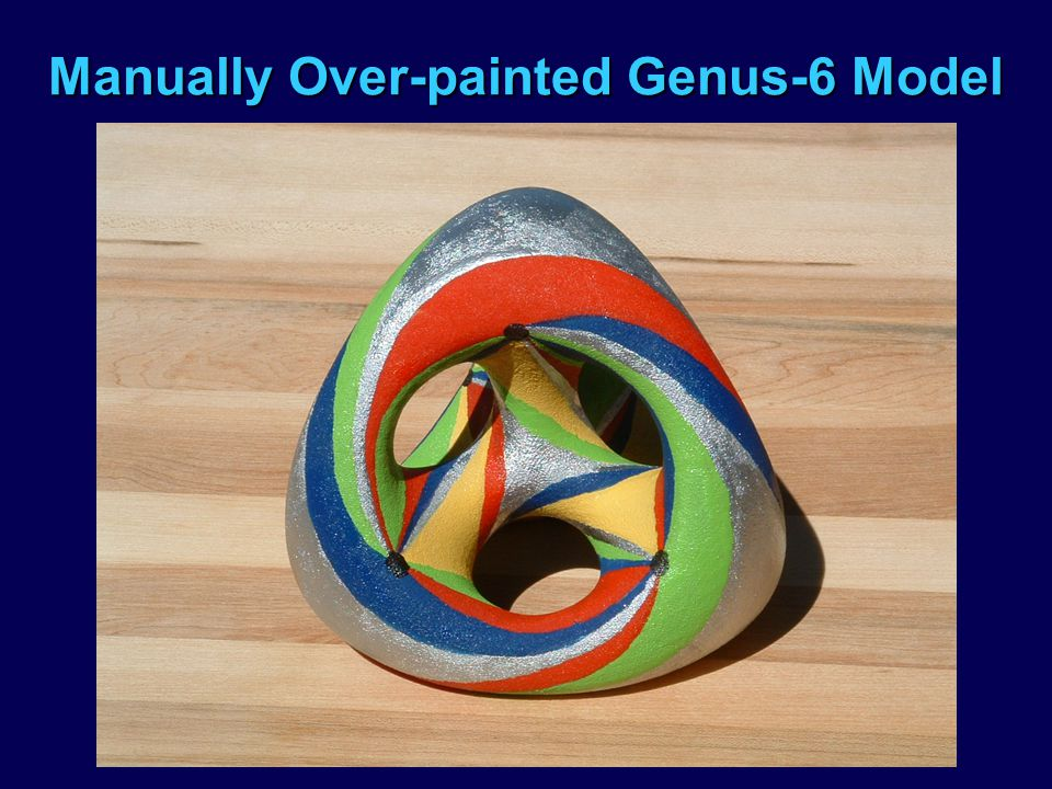 Manually Over-painted Genus-6 Model
