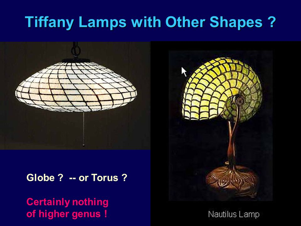 Tiffany Lamps with Other Shapes ? Globe ? -- or Torus ? Certainly nothing of higher genus !