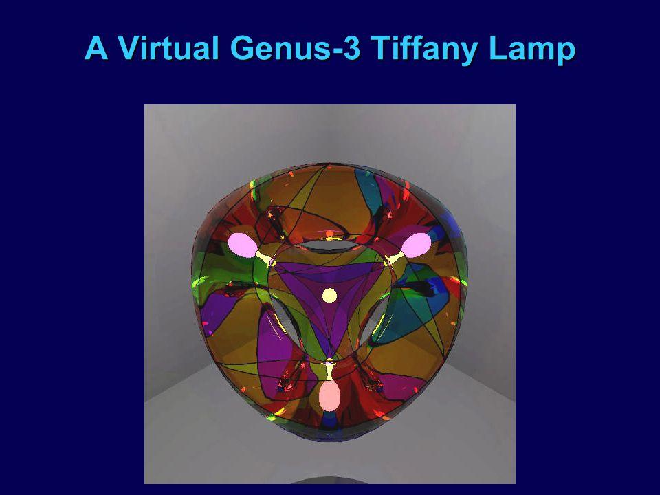 A Virtual Genus-3 Tiffany Lamp