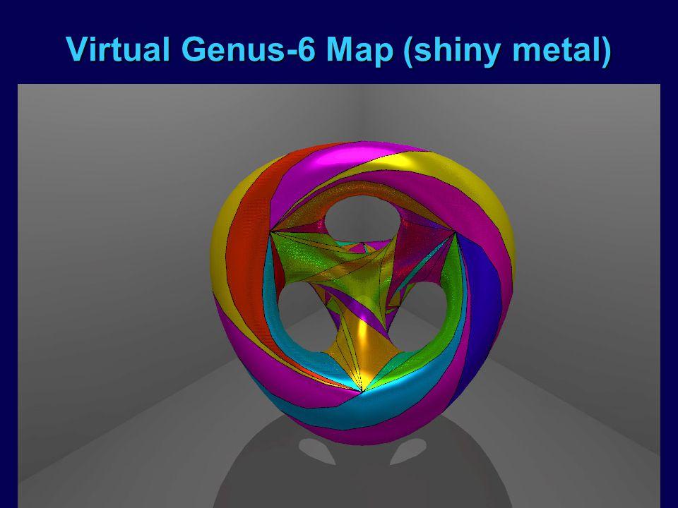 Virtual Genus-6 Map (shiny metal)