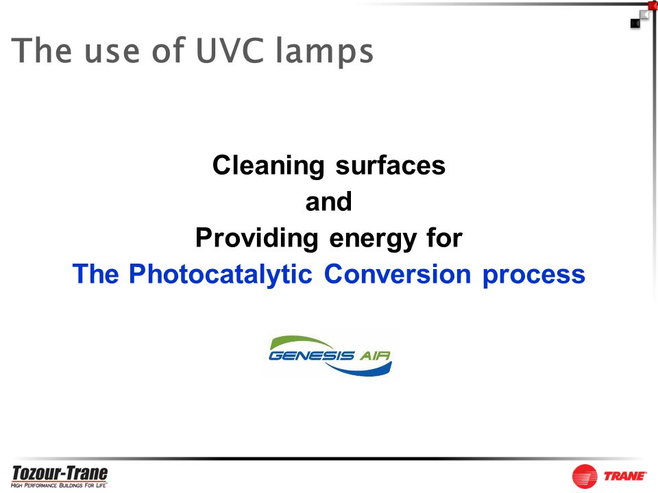 Cleaning surfaces and Providing energy for The Photocatalytic Conversion process