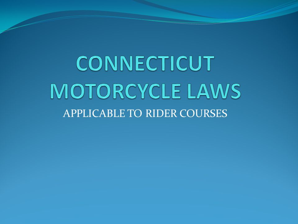 APPLICABLE TO RIDER COURSES