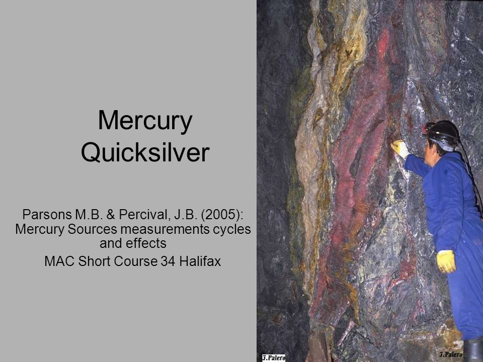 Mercury Quicksilver Parsons M.B.& Percival, J.B.