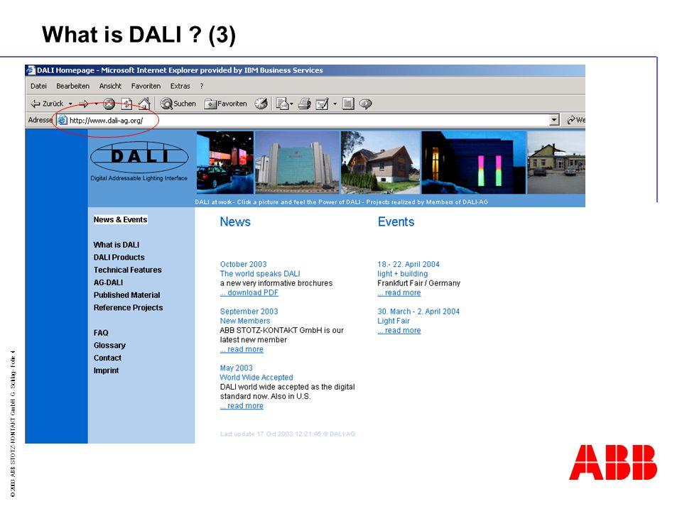 © 2003 ABB STOTZ-KONTAKT GmbH G.Schlag- Folie 15 Address 1 123...