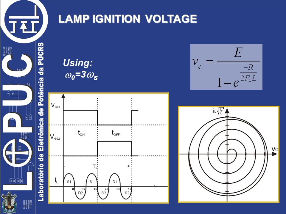 LAMP IGNITION VOLTAGE 0 =3 s Using: