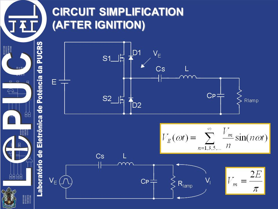 CIRCUIT SIMPLIFICATION (AFTER IGNITION)