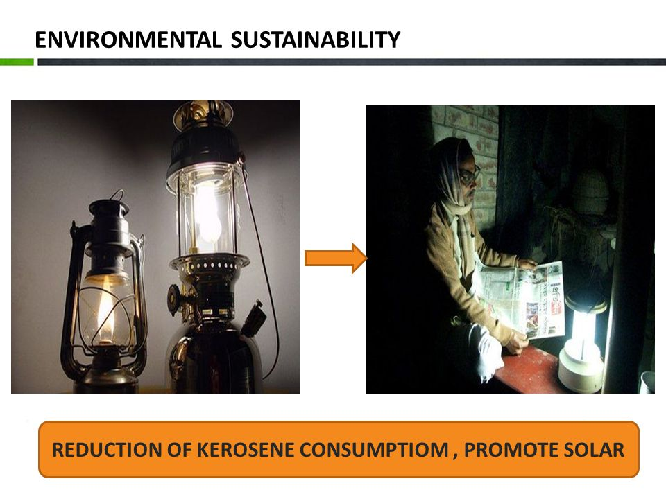 ENVIRONMENTAL SUSTAINABILITY REDUCTION OF KEROSENE CONSUMPTIOM, PROMOTE SOLAR