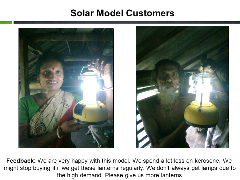 Solar Model Customers Feedback: We are very happy with this model.