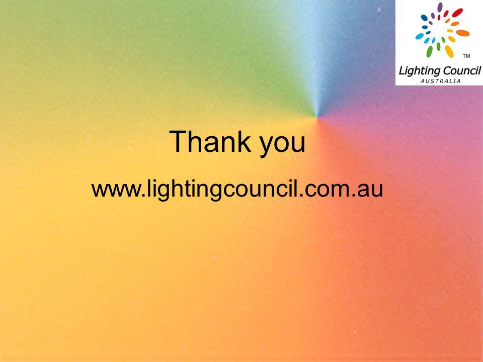 19 Thank you www.lightingcouncil.com.au