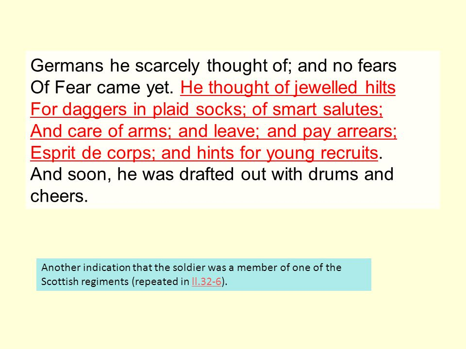 He is not named in the poem and this emphasises the fact that there are so many of these crippled soldiers.