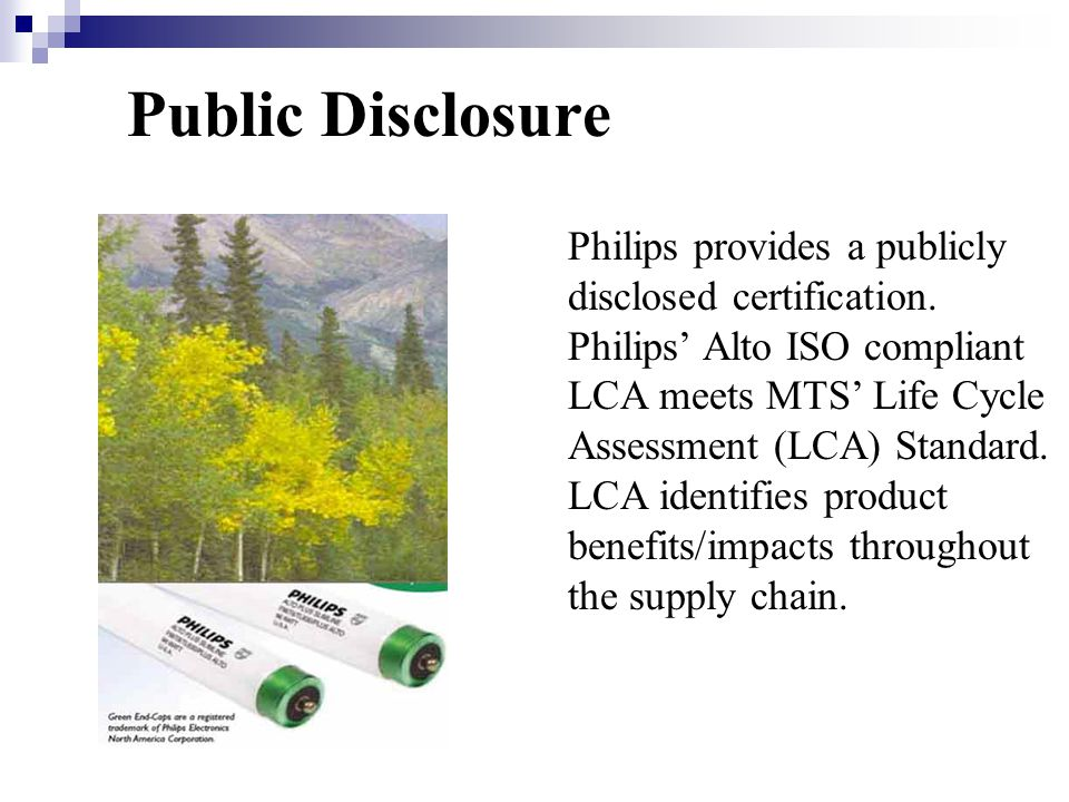 Philips provides a publicly disclosed certification.