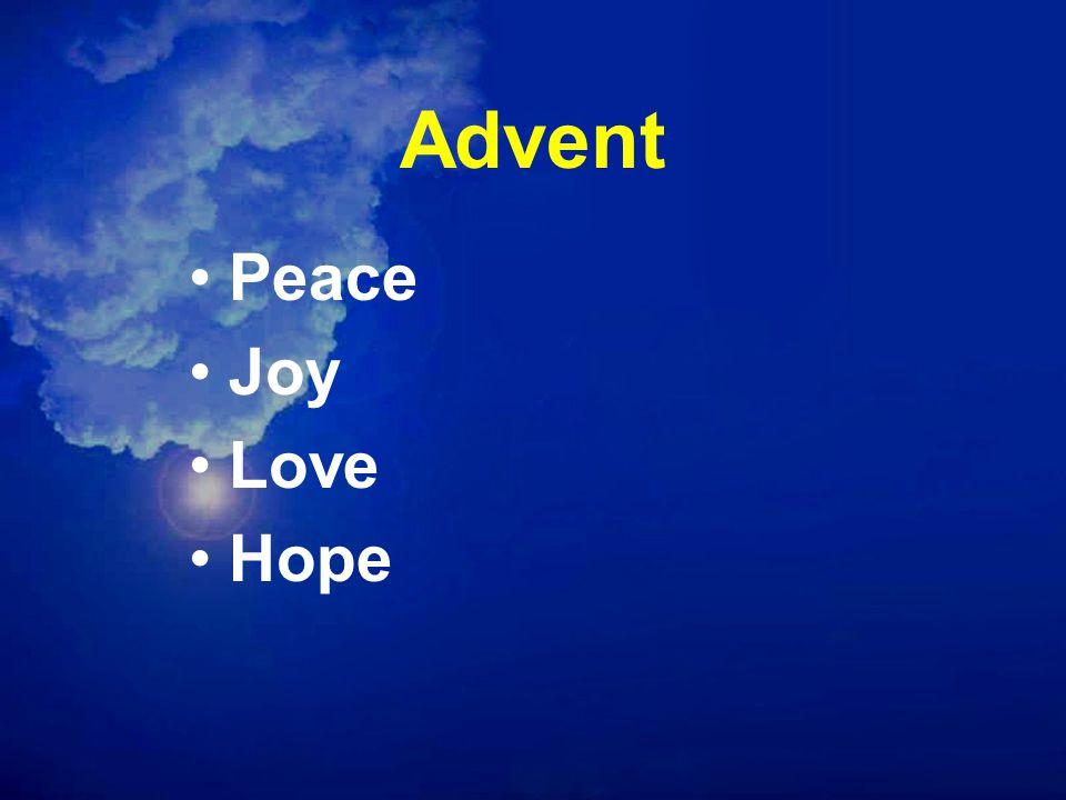 Advent Peace Joy Love Hope