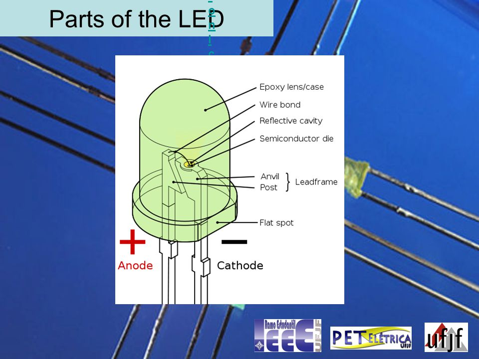 Parts of the LED Electronic symbolElectronic symbol