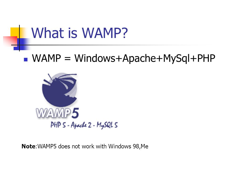 Overall WAMP is easy to install and it is free to use.