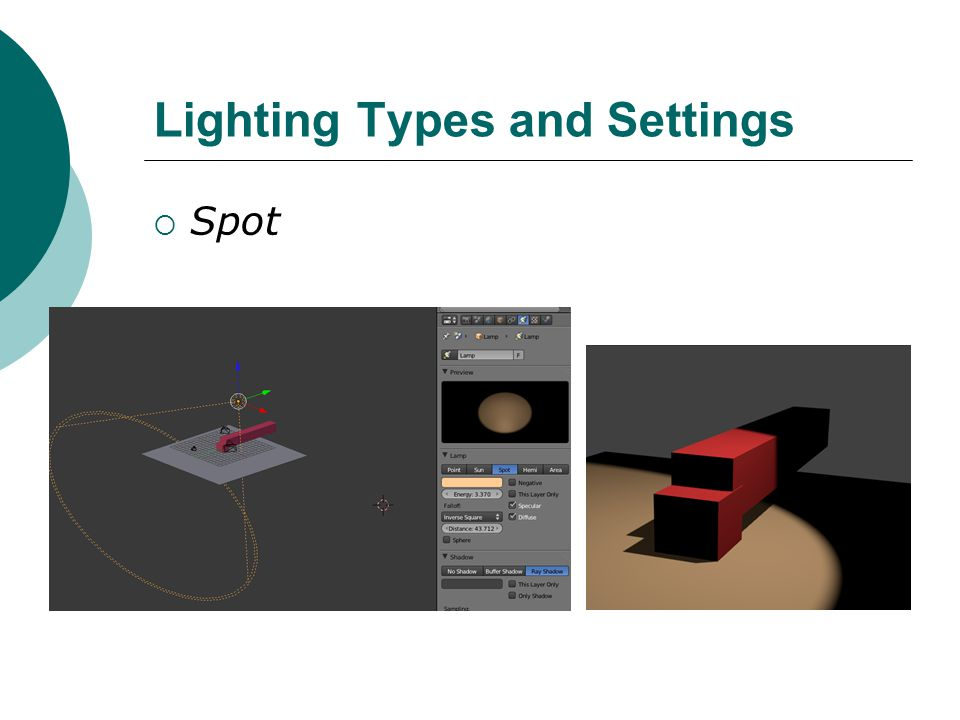 Lighting Types and Settings Spot