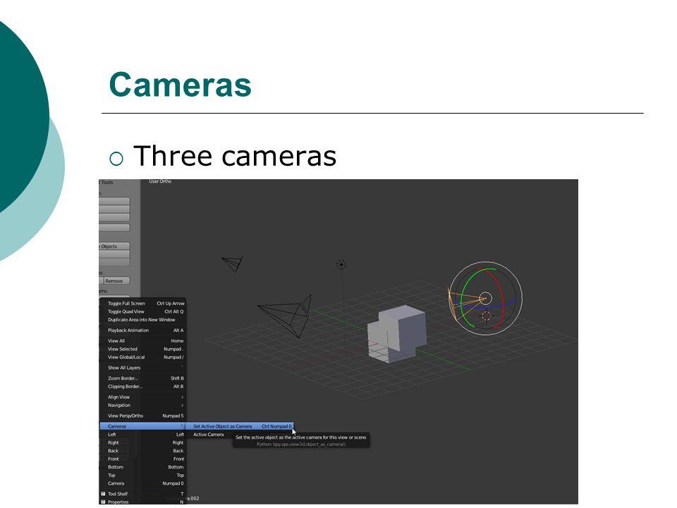 Cameras Three cameras