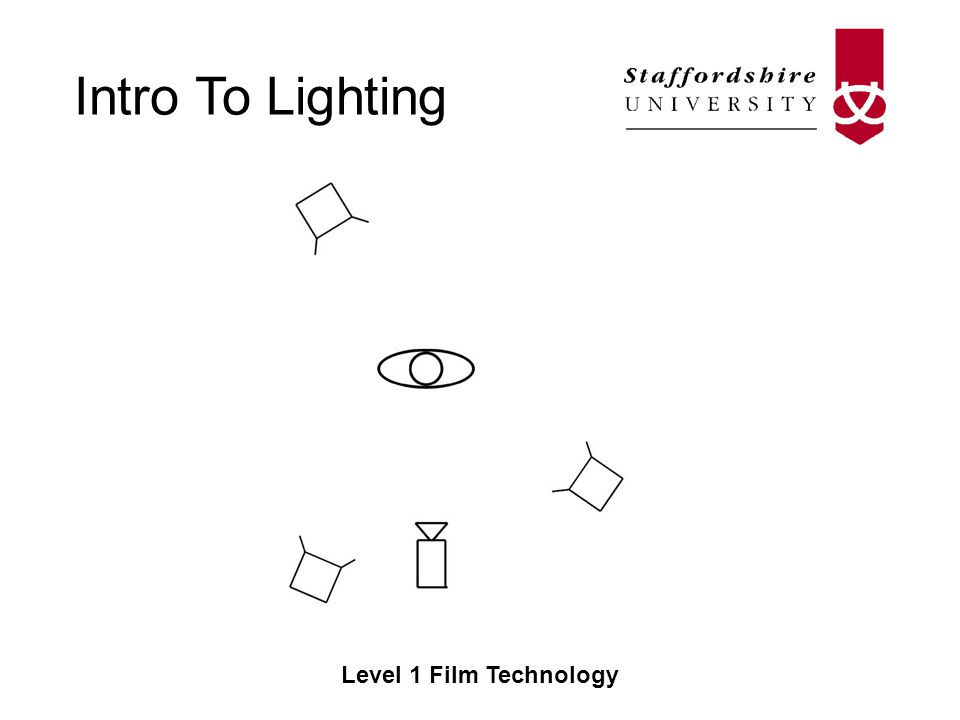 Intro To Lighting Level 1 Film Technology