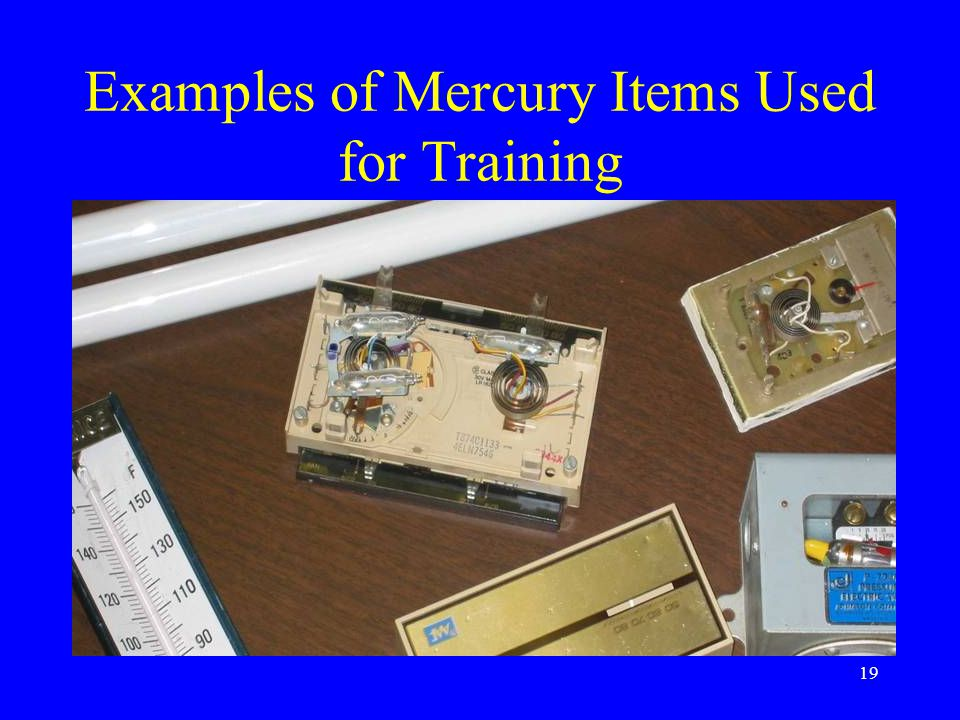 19 Examples of Mercury Items Used for Training