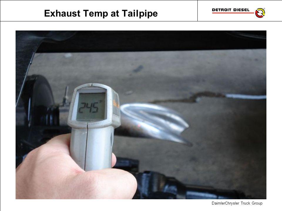 DaimlerChrysler Truck Group Exhaust Temp at Tailpipe