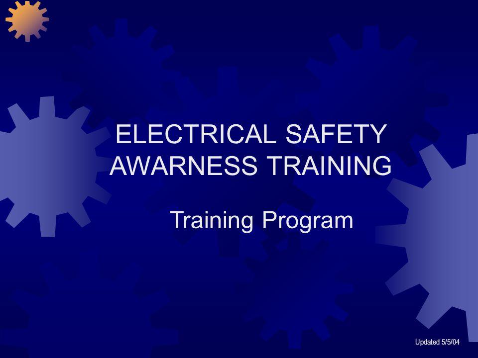 ELECTRICAL SAFETY AWARNESS TRAINING Training Program Updated 5/5/04