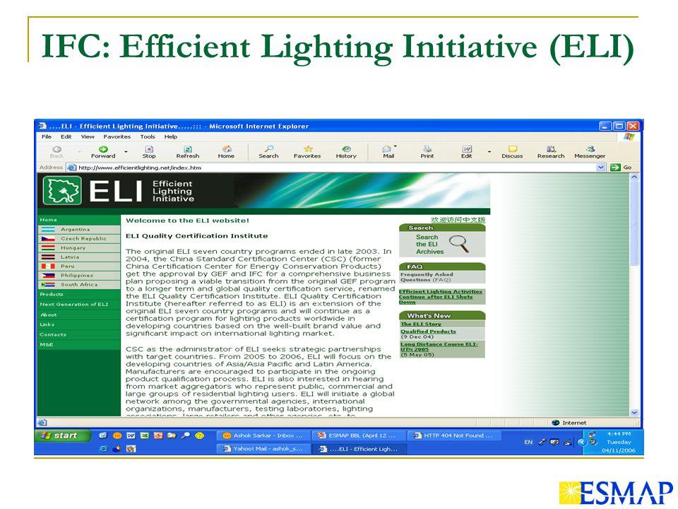 IFC: Efficient Lighting Initiative (ELI)