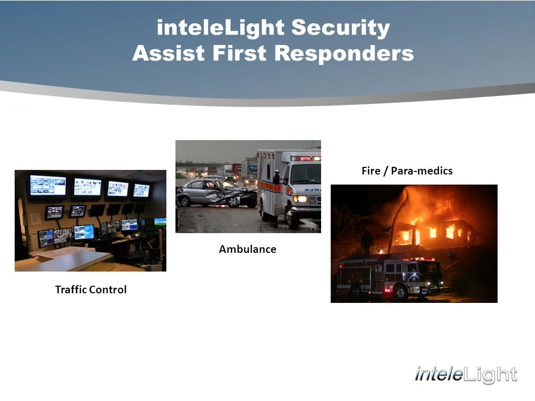 inteleLight Security Assist First Responders Fire / Para-medics Ambulance Traffic Control