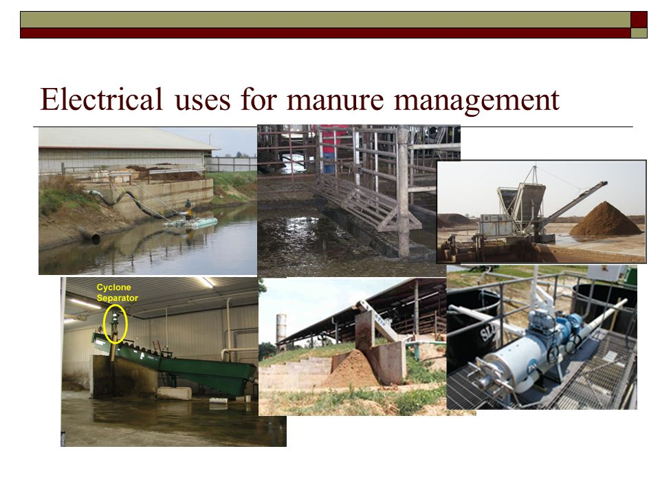 Electrical uses for manure management