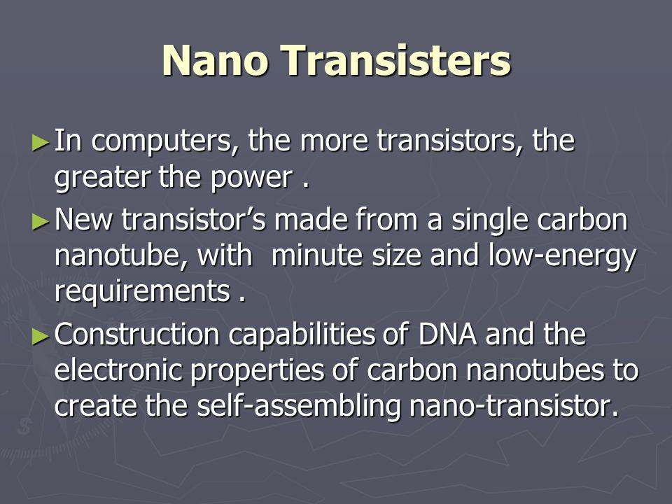 Nano Water-filters Carbon nanotube-based membranes for water desalination.