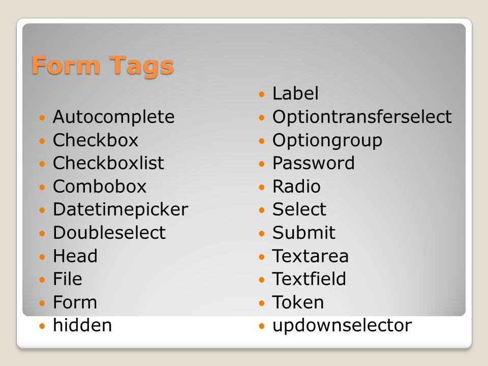 Form Helper Tags Actionerror actionMessage Compact Div fieldError Table tabbedPanel Tree treenode
