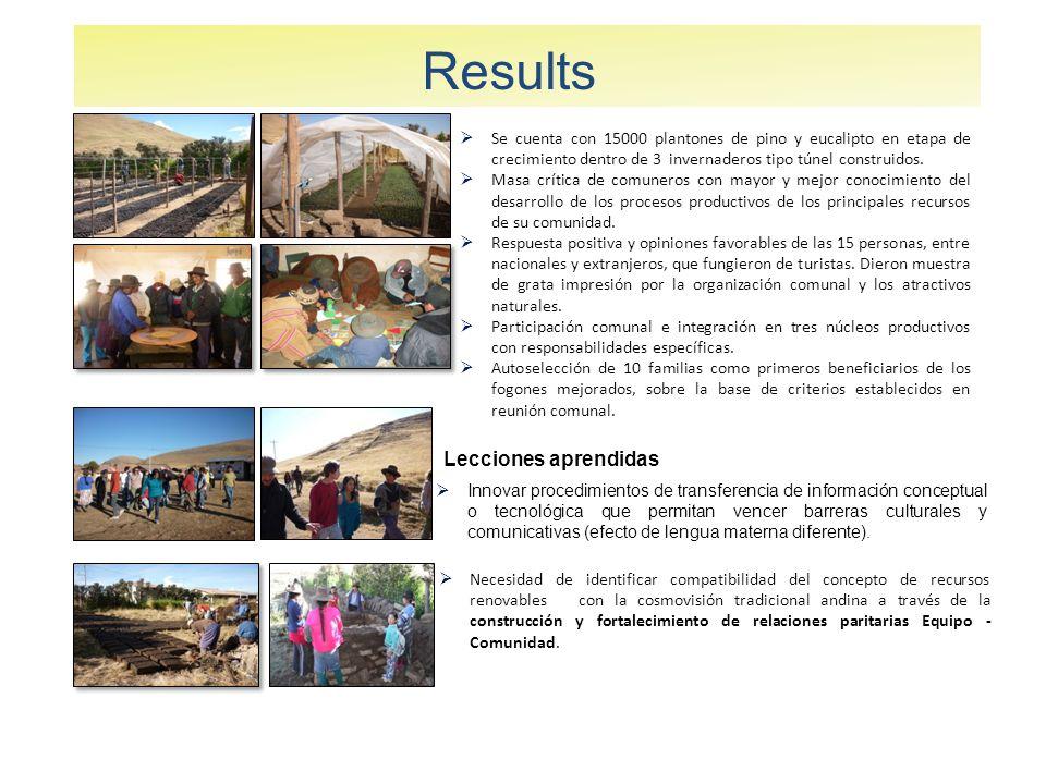 Results Se cuenta con 15000 plantones de pino y eucalipto en etapa de crecimiento dentro de 3 invernaderos tipo túnel construidos.