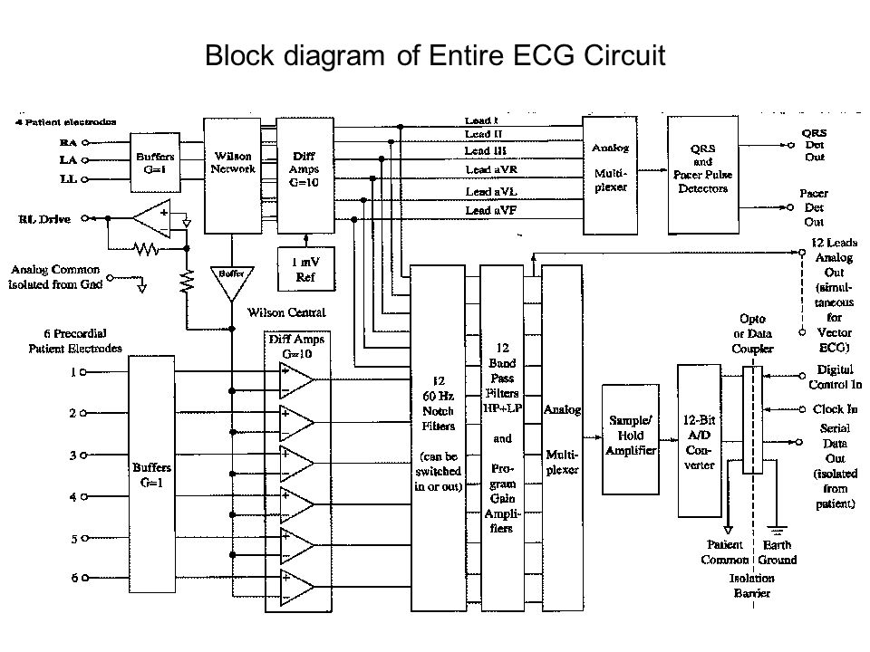 Block diagram of Entire ECG Circuit