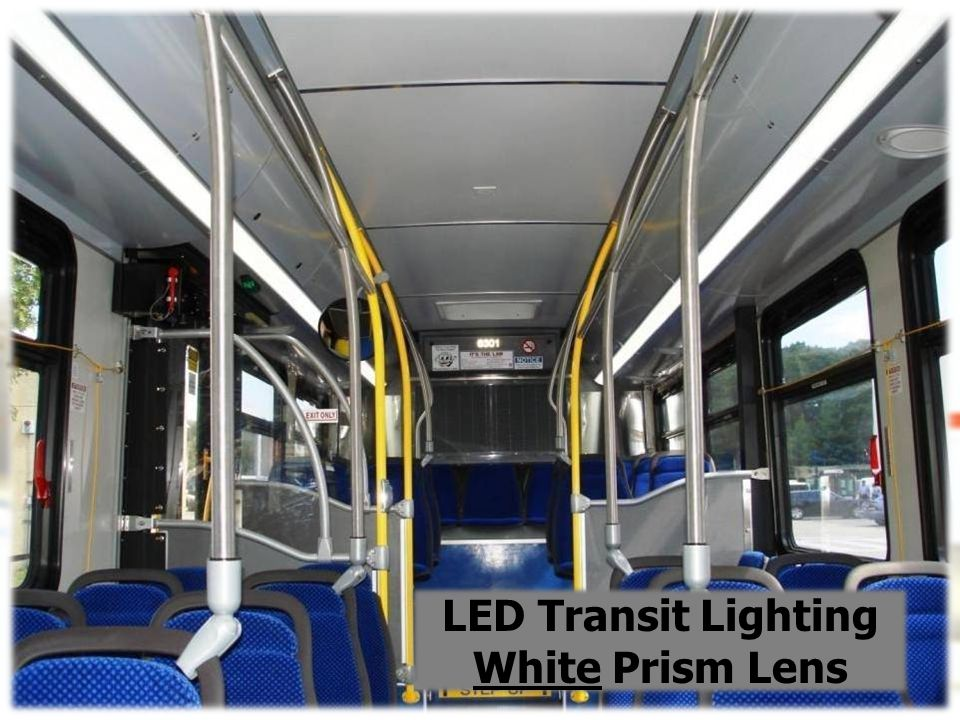 We Design Innovative Bus Interiors LED Transit Lighting White Prism Lens