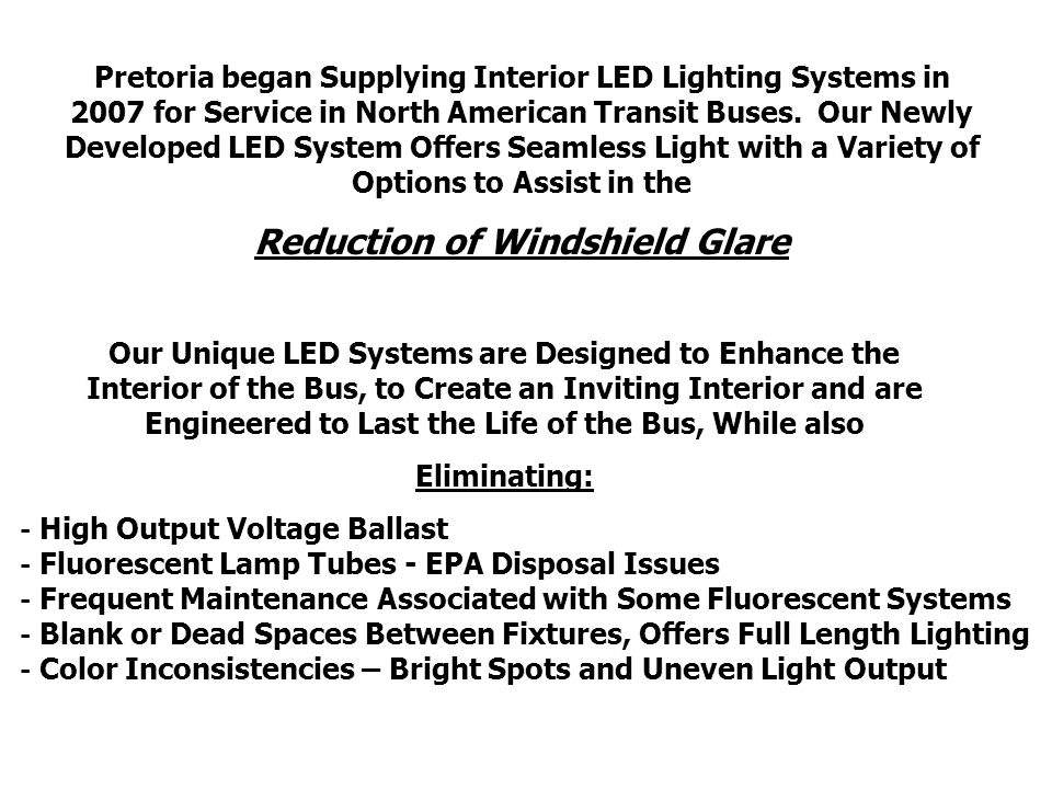 Bus Driver Windshield Glare May pose a safety concern during night time rural routes.