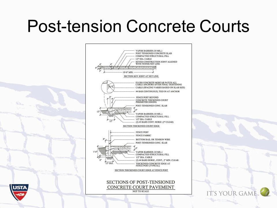Post-tension Concrete Courts