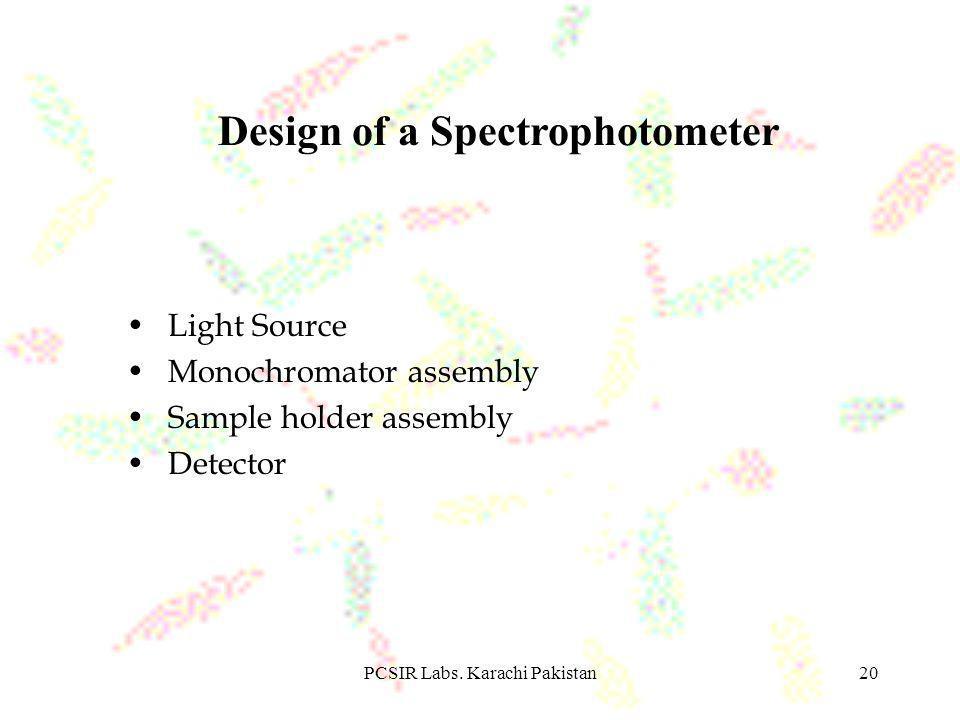 PCSIR Labs.Karachi Pakistan21 Light Source Lamps convert electrical energy into radiation.