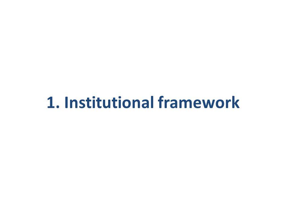 1. Institutional framework