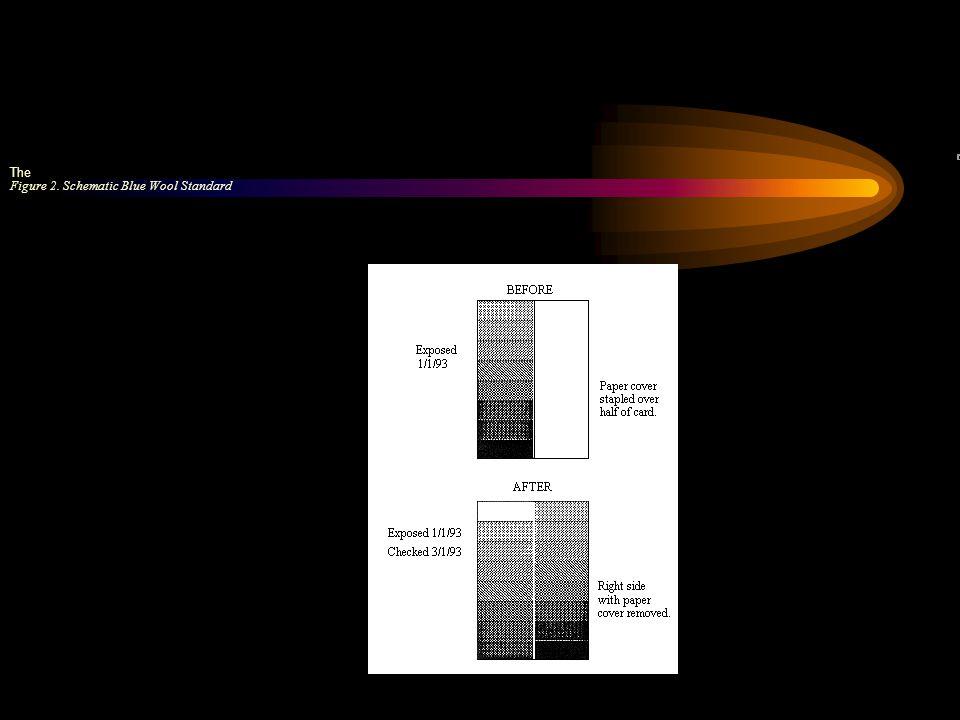 Figure 2. Schematic Blue Wool Standard The