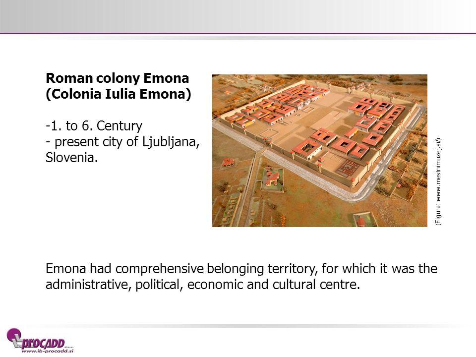 Roman colony Emona (Colonia Iulia Emona) -1.to 6.